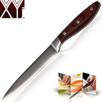 best japanese kitchen knives - XYJ new damascus knives inch utility knife kitchen knives layers of Japanese damascus steel cooking tools best knife gift