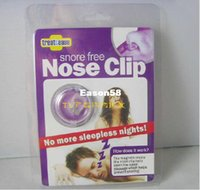 Sleeping Aids - Silicon Stop Snoring Nose Clip Anti Snore Sleep Apnea Aid Device Night Tray