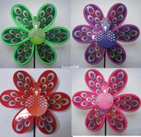 plastic windmill toy - Children plastic windmill toy peacock shape cm length cm diameter red yellow blue green purple