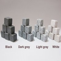 Wholesale Natural Whiskey Stones Set Sipping Whisky Stones for Whiskey Whisky Stone Whisky Rock Wedding Gift Favor Christmas Bar