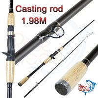 Wholesale Cheap Fishing Rods m Carbon Fiber Fishing Rod Pole Carbon Fishing Lure Rod Two Segments Sections Casting Hard Spinning Lure