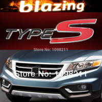 Cheap 3D Type-S Type S Metal Front Body Kit Grille Grill Emblem Car Auto Turning Racing Running Badge Logo Decal Emblem