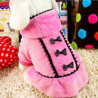 Wholesale Dog Pet Dress Puppy Skirt stripe Clothes bow tie design