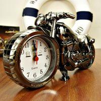 Wholesale Motorcycle Alarm shape creative retro super cool gifts upscale boutique European style furnishings alarm clocks H017
