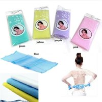 Wholesale High Quality Novelty Multi Colors Nylon Japanese Exfoliating Beauty Skin Bath Shower Wash Cloth Towel Back Scrubbers Bath Brushes cloth1769