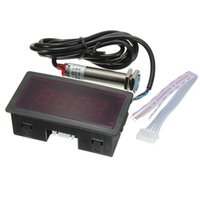 Wholesale Red LED Tachometer RPM Speed Meter with Proximity Switch Sensor NPN Price