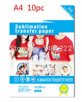 Wholesale 10 X A4 T Shirt Transfer Paper Tshirt Inkjet Iron On Heat order lt no track