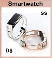 All Compatible band fuel - Bluetooth SmartWatch D8 Health Bracelet Wristband Fuel Band for iPhone Samsung Android Phones D8 for lady women smart watch dhl free OTH051