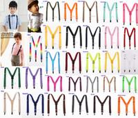 adjustable brace - New Children Kids Boy Girls Clip on Y Back Elastic Suspenders Adjustable Braces Christmas gift full color