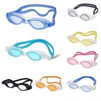 Wholesale 1pc Adult Non Fogging Anti UV Swimming Goggles Swim Glasses Waterproof Adjustable colors