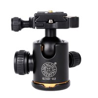 Wholesale QZSD Q02 Tripod Panoramic Ball Head Quick Release Plate for Canon For Nikon DSLR Camera Tripod Accessories