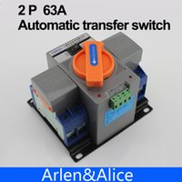 ats power switch - 2P A V MCB type Dual Power Automatic transfer switch ATS