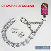 big dog training collar - Stainless Steel Detachable And Adjustable L Size Dog Training Chain Prong Collar For Big Pets