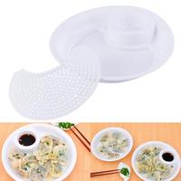Wholesale 1pcs sizes Plastic dumpling dish double layer plate water belt vinegar dish dumplings plate fruit plate Brand New