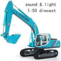 alloy engineering - original kaidiweii light sound version blue color excavator engineering car model children s toy car alloy car