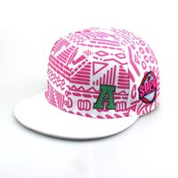 Wholesale new New hats Korean fashion printing letters A tide of men and women hip hop hat flat brimmed hat