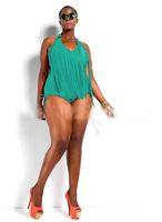 bandeau - PLUS SIZE Womens Retro Fringe Tassel Top High Waisted Bikini Push Up Bandeau Rockabilly Swimwear Swimsuit