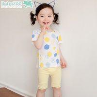 Cheap 2015 cute girls printed T shirt Korean children cotton Short Sleeve Tee Shirts Summer Kids Clothes lemon baby girl Tops Blouse 5827