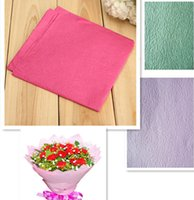 Wholesale Floral Wrapping Paper Flower Packing Materials Tissue Crepe Rose Flower Origami Paper Gift Wrapper CM Multicolor Optional