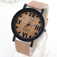 mens watches - Nice Leather Strap Mens Watches Simple Wood Roman Numeral Dial Cheap Waterproof Mens Watches Hot Sale Relogio Feminino