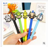 Wholesale Newest star wars Stationery Cute Cartoon Neutral Pen Student School Gel pen Office supplies Star Wars Pens R1447