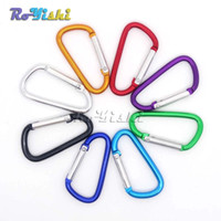 Cheap 100pcs lot Aluminum Carabiner Snap Hook Keychain For Paracord Outdoor Activities Hiking Camping 8 Colors