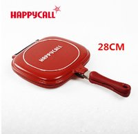 Wholesale Hot Sale Happycall cm Non stick Double Side Fryer Pan Grill Fry Pan And