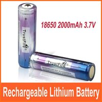 Wholesale PCB Board Protected mAh battery TrustFire V Li ion Rechargeable Battery for Flashlight batteries