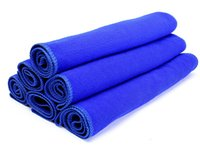 Wholesale 5 Blue x70cm Microfiber Towel Car Cleaning Cloth ultra absorbent Washing Cloth Car
