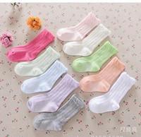 Wholesale 2016 summer colors candy color knee high socks baby girls boys newborn kids children cotton sock meias student school dress socks Y