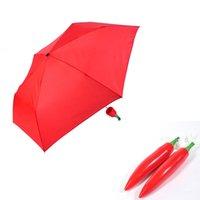 Wholesale Creative Design Women s Compact and Portable Fold Manual Umbrella Parasol Sunny Rainy Pepper Umbrellas For