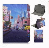 Wholesale 9 design new zootopia cartoon leather Housings Protective PU Leather Case Cover for inch Tablet computer protective case KKA07