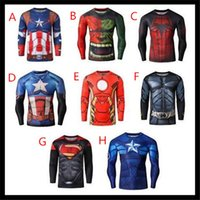 cycling jersey wholesale - 2015 Mens D Superhero cycling jerseys Spiderman Ironman Long Sleeve Cycling Pro Tops Slim Fit Sport Workout Excerise shirts