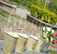 balcony shelf - FBH052848 European household balcony hanging tin flower POTS Rural decorative furnishing articles flower shelf wrought iron