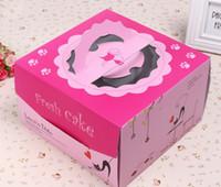 Wholesale 50pcs Hot Selling cake box inch black cat Paper Cake Box Eco Friendly paper Cupcake Box For Cake Boxes