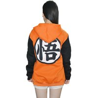 Wholesale dragon ball dragon balls z jacket hoodie goku kame adult dbz cosplay clothes coat halloween costumes womans outfit mens zipper