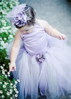 ballet floors - Cute Halter princess flower girls dresses for wedding sashquinceanera decorations christening gowns lengths tutu skirt ballet