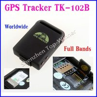 Cheap 100% Brand New TK102B Mini Global GPS Car Tracker Real Time TK102B Personal Tracking Device Personal Cat Dog GPS Tracker