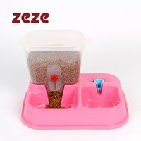 Cheap Wholesale-Automatic Pet Drinking fountains water feeder dog cat dog bowl feeder assured health