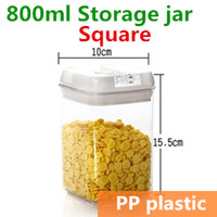 bamboo tea canister - 800ml Plastic jars and lids Canning jars Canister Storage jar Mason Jars Casket Tea container Caning Sealing Violetta TB8708