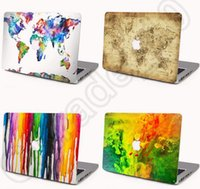 Cheap 200PCS HHA528 Cartoon 502 Style Laptop Hard Cases Marble Style for Apple Macbook Air Pro Retina Protector Macbook Case Front Cover