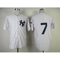 Wholesale Yankees Mickey Mantle Baseball Jerseys White Throwback Baseball Shirts Authentic Home Jersey Discount Athletic Uniforms Hot Sale