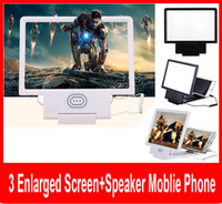 Wholesale Upgrade Enlarged Screen D Video Amplifier Eyes Display Magnifying with Speaker Cell phone Stand with Package