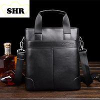Wholesale Men Casual Briefcase Business Genuine Shoulder Leather Bag Men Messenger Bags Computer Laptop Handbag Bag Men s Travel