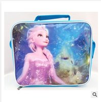 Wholesale 4 styles High quality pvc mochila frozen backpack Children school bags for teenagers Children shoulder Picnic Lunch bag frozenc903