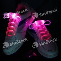 Wholesale LED Shoelaces Shoelace Boys Girls Kids Light Up Flash Party Disco Shoe Laces Shoe Strings Fashion Free DHL Factory Direct