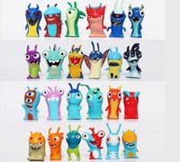 Wholesale Anime Cartoon cm Mini Slugterra PVC Action Figures Toys Dolls in opp bag Christmas gifts