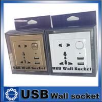 switch - Multifunctional A Dual USB Charging Wall Socket USB Universal Socket USB Socket Switch Panel Power Plug