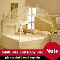 Wholesale New Arrival Fine mesh mosquito Tent Ger Type Mosquito Net Good Sleep Bed Netting With zipper Double Door