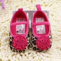 baby flats - 2015 new Drop Shipping Leopard Flower Baby Shoes Soft Soled Toddler Girls Elastic Band Crib Shoes Years Baby Flats Shoes